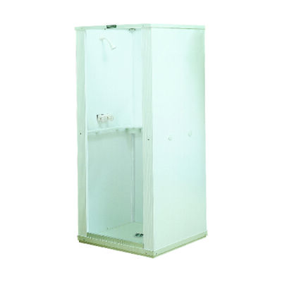 Mustee Durastall 74.75 in. H x 32.625 in. W x 32.625 in. L White Center Drain Shower Stall