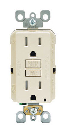 Leviton GFCI Receptacle 15 amps 5-15R 125 volts Light Almond