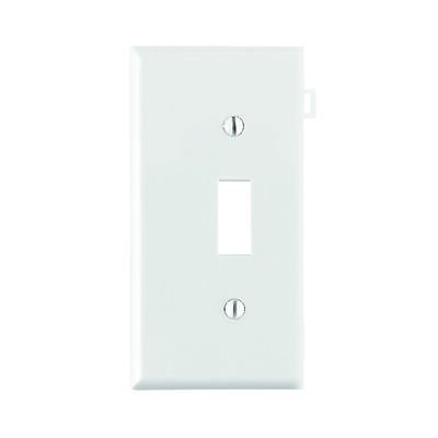 Leviton End Section 1 gang White Nylon Toggle Wall Plate 1 pk