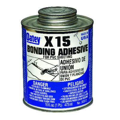 Oatey X-15 Clear PVC Sheeting Adhesive 16 oz.
