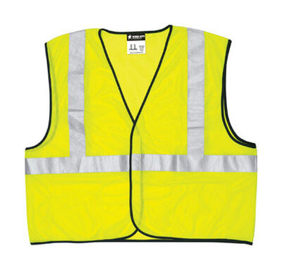 Safety Works Safety Vest Polyester Lime Green X-Large
