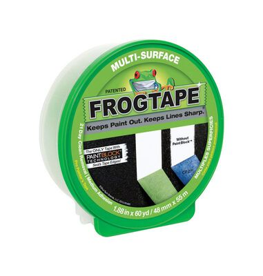 FrogTape 1.88 in. W x 60 yd. L General Purpose Painter's Tape Medium Strength Green 1 pk
