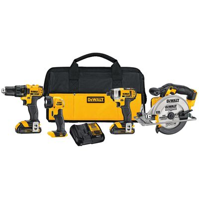 DeWalt 20V MAX 4 pc. Cordless Combo Kit Lithium Ion