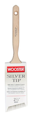 Wooster Silver Tip 2 1/2 in. W Angle Polyester Paint Brush