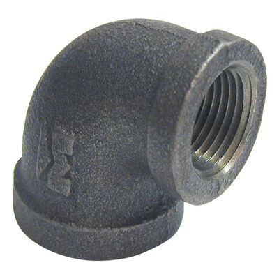 B & K 3/4 in. Dia. x 1/2 in. Dia. FPT To FPT 90 deg. Black Malleable Iron Reducing Elbow