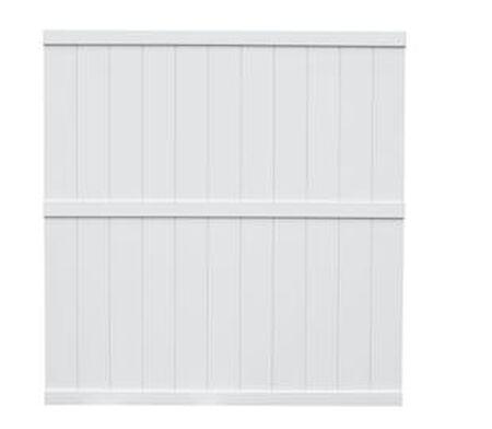White 6 x 6 Vinyl Panel Privacy Fence