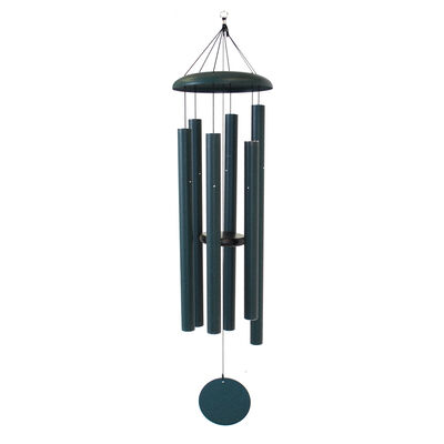 "Corinthian Bells, 53"" Green Windchime"