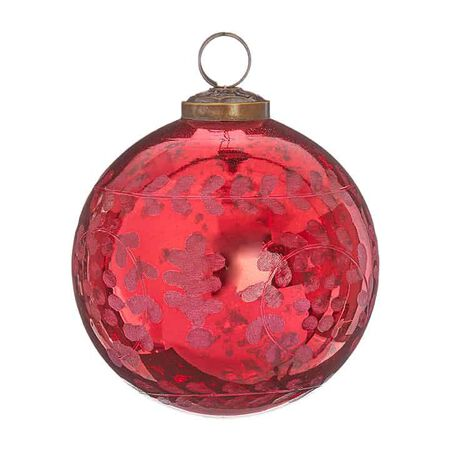 """3.75"""" Etched Ball Ornament"""