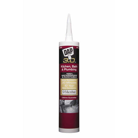 Dap 3.0 White Polymer Kitchen and Bath Sealant 9 oz.