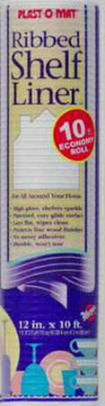 Warp's Plast-O-Mat 10 ft. L x 12 in. W White Non Adhesive Ribbed Shelf Liner