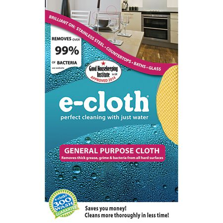 E-Cloth General Purpose Polyester/Polyamide Cleaning Cloth 12-1/2 in. W x 12-1/2 in. L