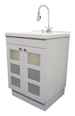 Exquisite Melamine Faced Chipboard Utility Sink and Cabinet Kit