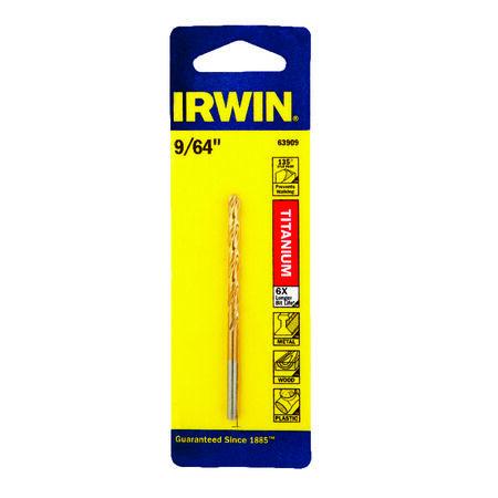 Irwin Titanium Straight 9/64 in. Dia. x 2-7/8 in. L Drill Bit 1 pc.