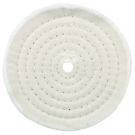 Forney 6 in. Dia. Spiral Sewn Buffing Wheel