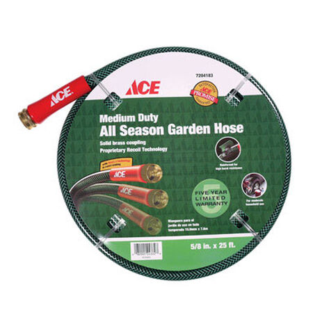 Ace All-Season 5/8 in. Dia. x 25 ft. L Garden Hose Kink Resistant