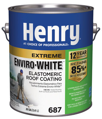 Henry Water Based Roof Coating 1 gal. White