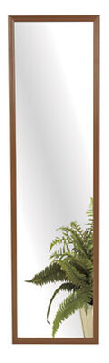 Stanley 13 in. W x 49 in. H Walnut Plastic Mirror