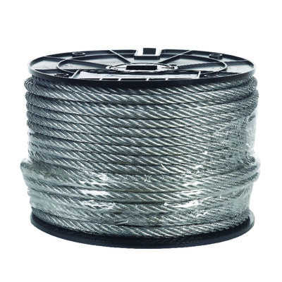 Campbell Chain Galvanized Steel Aircraft Cable 5/16 in. Dia. x 200 ft. L
