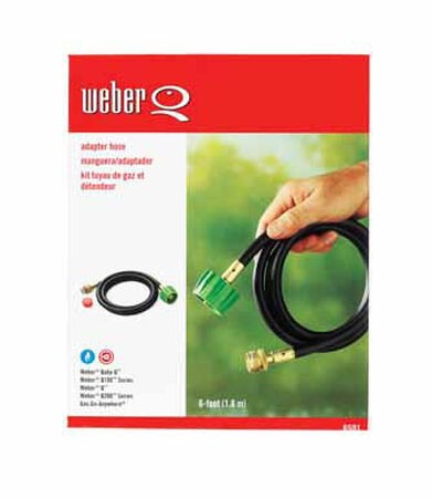 Weber Synthetic Rubber Gas Line Hose and Adapter 6 ft. H x 7.5 in. W x 3 in. D 6 ft.