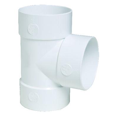 Plastic Trends SDR35 3 in. Hub x 3 in. Dia. Hub 3 Hub PVC PVC Straight Tee