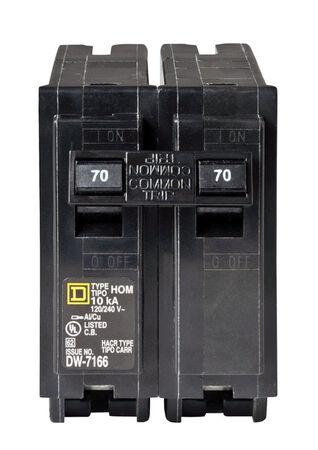 Square D HomeLine Double Pole 70 amps Circuit Breaker