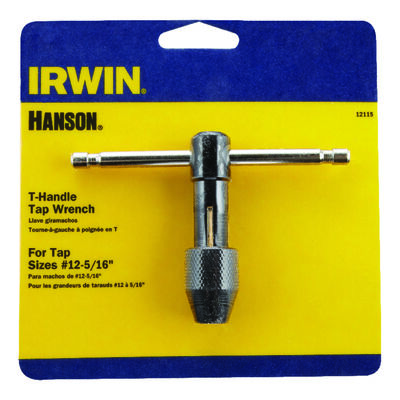Irwin Hanson High Carbon Steel 12-5/16 in. SAE T-Handle Tap Wrench 1 pc.