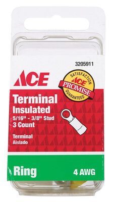 Ace Industrial Ring Terminal Vinyl 3 Blue