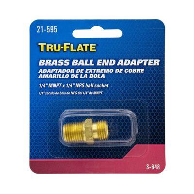 Tru-Flate Brass Ball-End Adapter 1/4 in. NPT x /1/4 in. NPS with Ball Socket in. Male