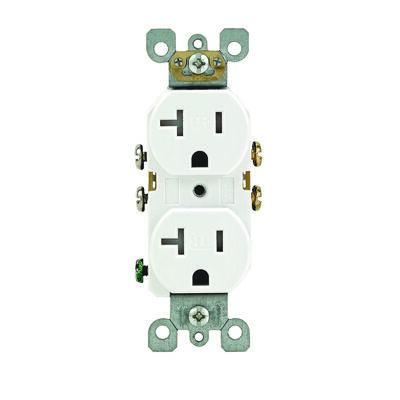 Leviton Tamper Resistant Duplex Receptacle 20 amps 5-20R 125 volt volts White