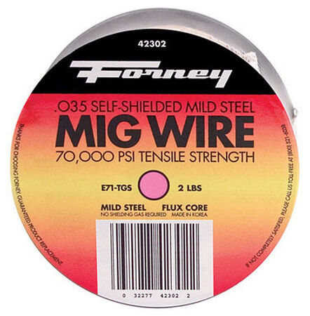 Forney 0.035 in. Dia. 2 lb. Mild Steel For Single Pass Applications With High Travel Speed Flux Co