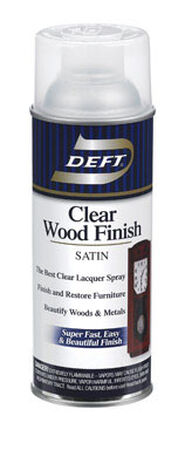 Deft Wood Finish Lacquer Satin 12-1/4 oz.