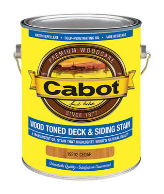 Cabot Wood Toned Transparent Oil-Based Deck and Siding Stain Cedar 1 gal.