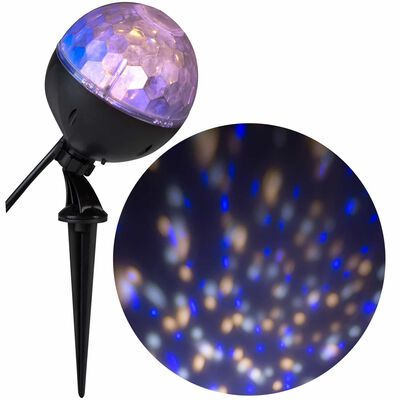 Gemmy Gemmy Confetti LED Projector Blue, White Plastic 12.20 in. 1 pk