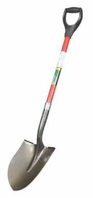 Ace 29 in. L Steel Round Point Shovel Fiberglass D-Handle