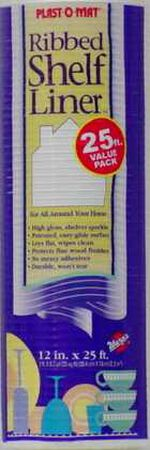 Warp's Plast-O-Mat 20 ft. L x 12 in. W White Non Adhesive Ribbed Shelf Liner
