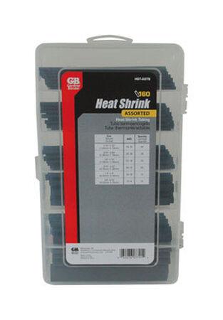 GB Black Heat Shrink Tubing Assortment 160
