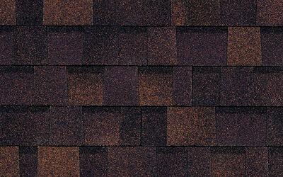 Roof hip and ridge brownwood oakridge