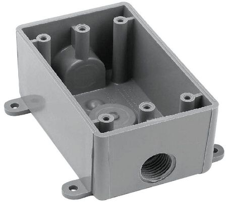 Carlon Rectangle 1 Gang T-Box 1/2 in. Gray PVC