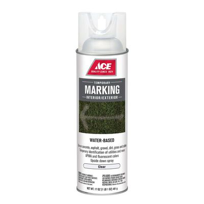 Ace 17 oz. Water-Based Upside-Down Marking Paint Spray Clear