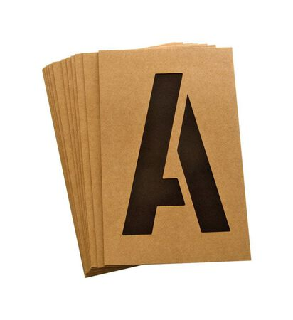 Hy-Ko Number and Letter Stencils Reusable Water Resistant 6 in.