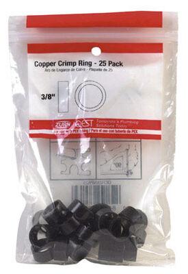 Qest 3/8 in. Dia. Copper Crimp Ring