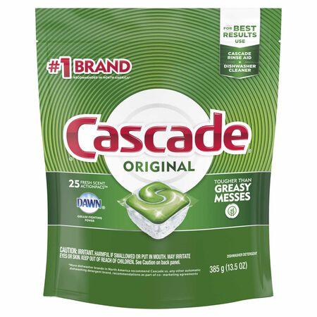 Cascade Original Fresh Scent Pods Dishwasher Detergent 25 pk