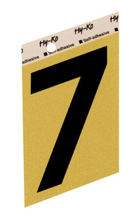 Hy-Ko Self-Adhesive Black Aluminum Number 7 3-1/2 in.