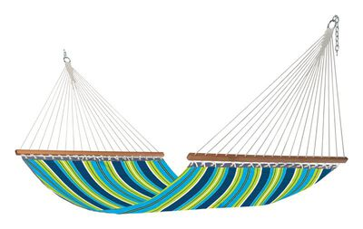 Castaway Quilted Hammock 55 in. W x 118 in. L Olefin Multi-Colored