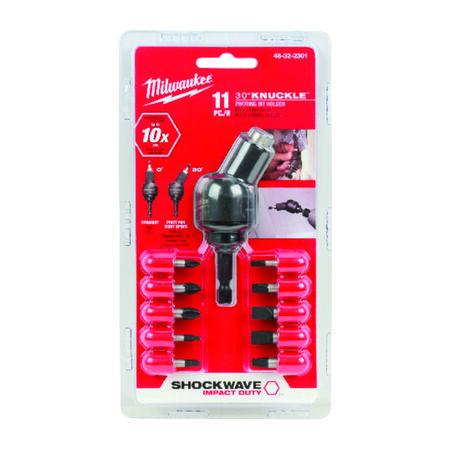 Milwaukee SHOCKWAVE Assorted 1 in. L Elbow Screwdriver Bit Set Steel 11 pc.