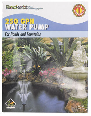 Beckett Plastic Pond and Fountain Pump 5/8 in. W 250 gph