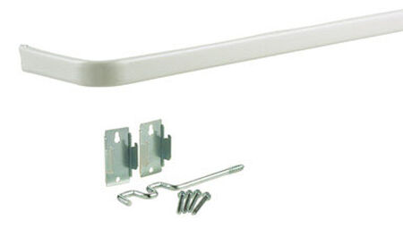 Kenney Curtain Rod 86 in. L Enamel