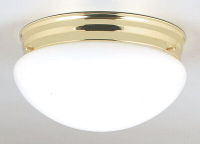 Westinghouse Polished Brass Ceiling Fixture 8-7/8 in. D x 4-3/4 in. H x 8-7/8 in. W