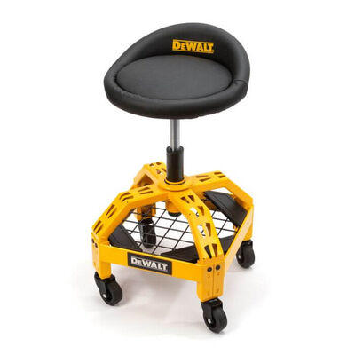Adjustable shop stool with casters