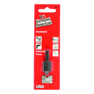 Vermont American 5/8 in. Dia. Tool Steel Countersink 1/4 in. Straight Shank